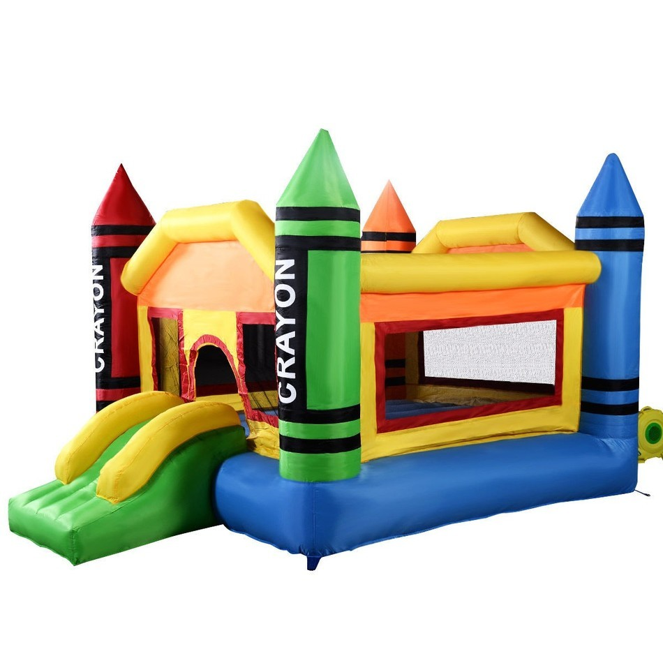 USA Delivery New Inflatable Crayon Bounce House Castle Jumper Moonwalk Bouncer Without Blower inflatable water slide bouncer inflatable moonwalk inflatable slide water slide moonwalk moon bounce inflatable water park