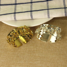 8PCS napkin ring gold / silver hotel banquet wedding napkin buckle hotel supplies mouth cloth ring