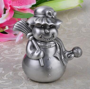 creative cartoon Broom snowman metal coin bank piggy bank coin for money safe cash box CXG025