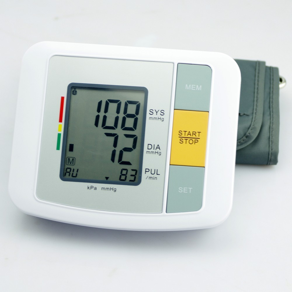 Portable Household Health Monitor Digital Upper Arm Blood Pressure Electronic Automatic Monitor Heartbeat Indicator Tonometer 15
