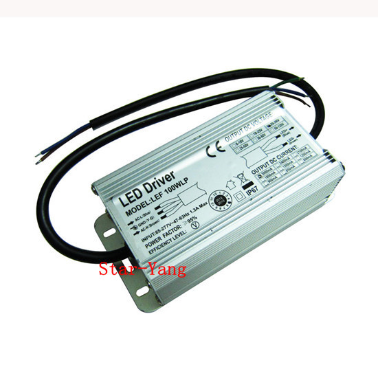 free shipping 100W LED Driver Power Supply For 100Watt High power LED Waterproof IP67 85-265V