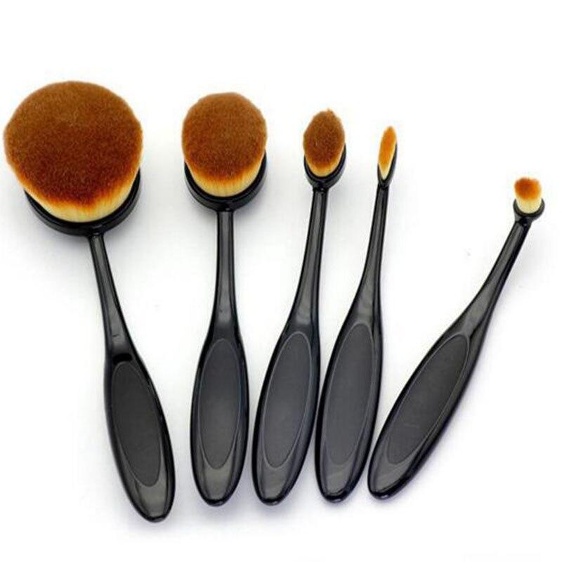 Professional Oval Tooth Makeup Brush Set 5pcs High Quality Makeup Tools Kit