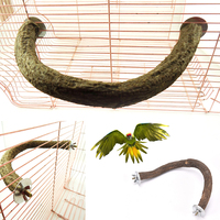 pet   bird   U shape wooden stand perch parrot foot toy gnawing toy   bird     supplies     bird   cage accessories