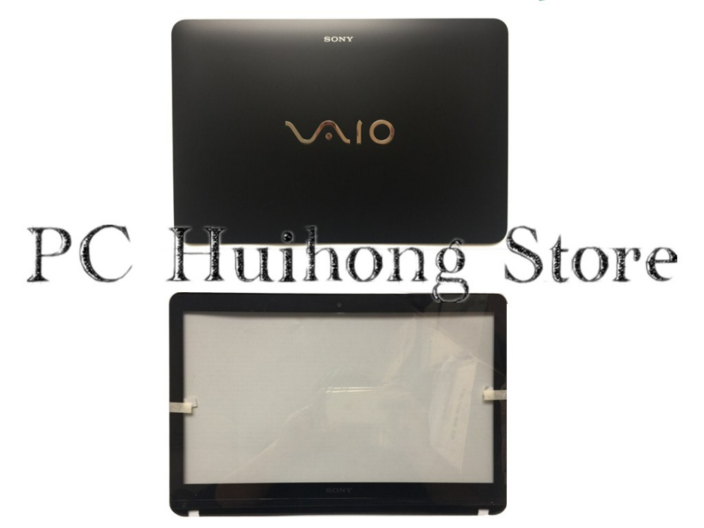 New/Orig For Sony VAIO SVF142A Touchscreen LCD Back Cover Front Bezel EAHK8004010  4HHK8BHN000 Black