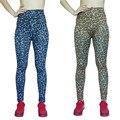 Новое прибытие Vogue Fashion polainas Тощая Пригонка упругой печати Леопарда карандаш брюки женские леггинсы высокой талией