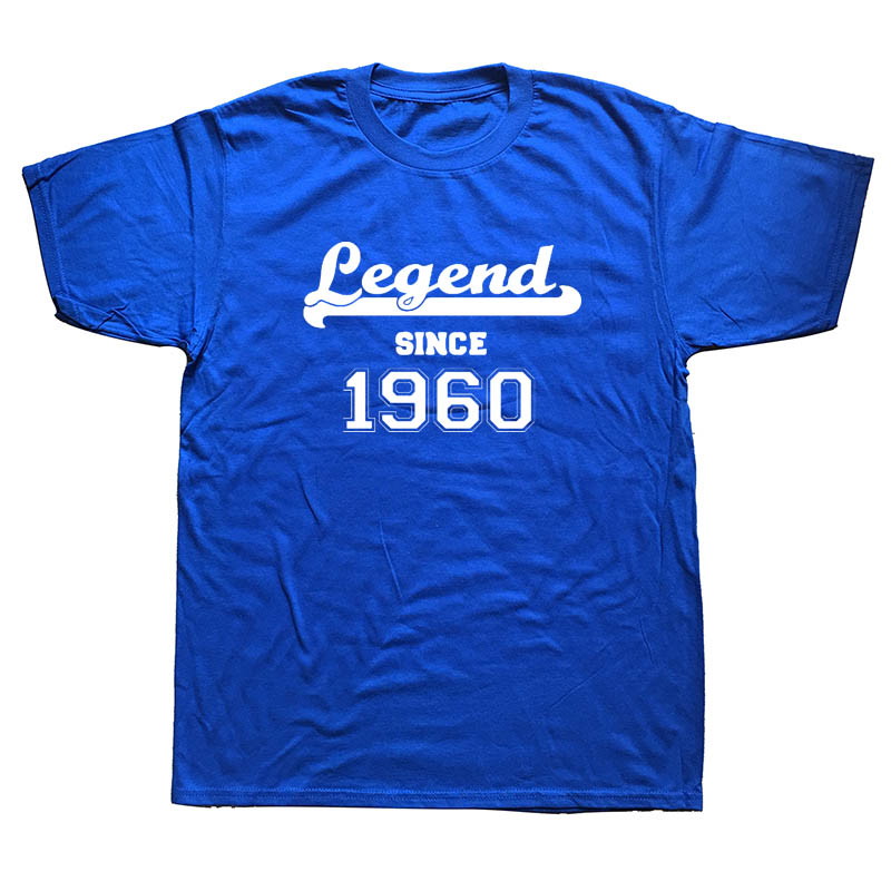 Legend Since 1960 Happy Birthday Present Gift Awesome Humour Funny T Shirt Adult PRINTED SHIRT TShirt Tee Unisex