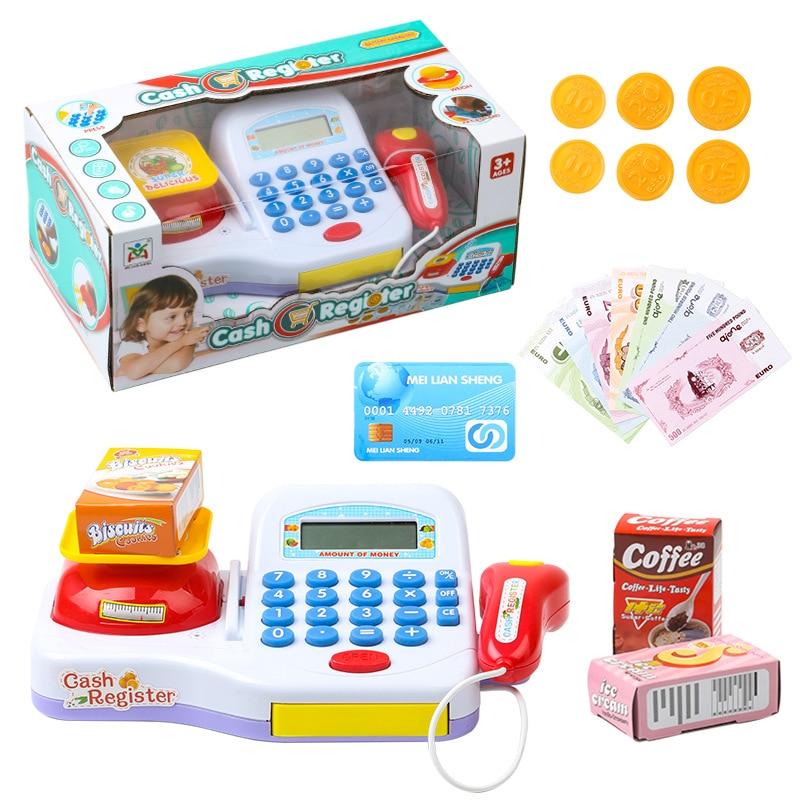 Supermarket Cash Register For Kids Simulation Cash Machine T
