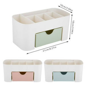 Image 4 - 2019 New Brand Fashion Table Organiser Make up Holder Jewelry Storage Box Cosmetic Desk Drawer Case