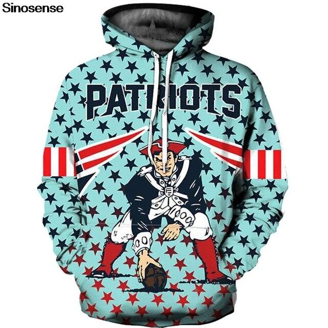 Nueva Inglaterra Patriots 3D Hoodie Hoodies hombres mujeres ropa deportiva  chándal 2018 Otoño Invierno Sudadera con 1a56d00b2b9