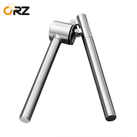 ORZ Stainless Steel Garlic Presses Long Handle Ginger Crusher Peeler Chopper Kitchen Gadgets Cooking Tools Garlic
