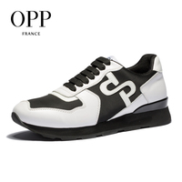 OPP 2018 Cow Leather Flats Fashion Shoes Genuine Leather Loafers For Men Shoes moccasins Men's Casual Footwear 2