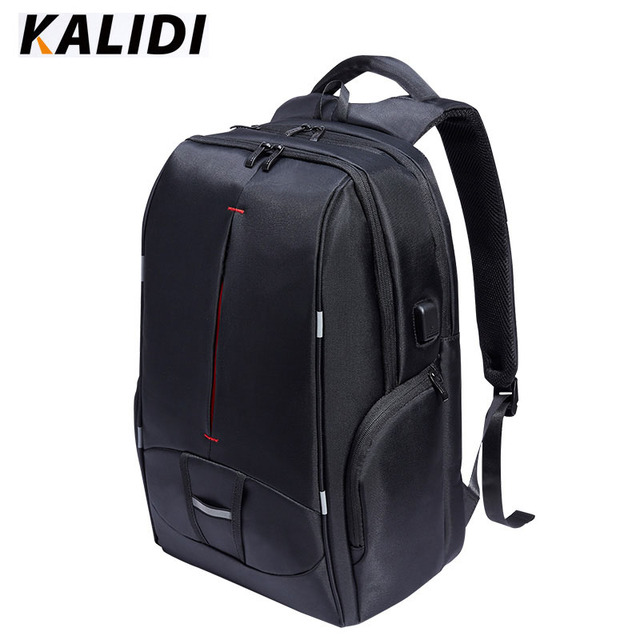 KALIDI 17 inch Waterproof Men Backpack USB Charging Women College Students Bag Notebook Laptop Backpack school bag for 17.3 inch