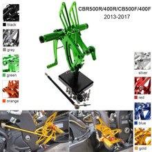CNC Alumínio Ajustável Rearsets Pé Pegs Para Honda CBR500R CBR400R CB500F CB400F 2013 2014 2015 2016 2017