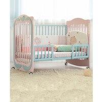 Новая Зеландия сосны кроватки multi function твердой древесины сплайсинга большой держатель для кроватки ребенка кровать ролик Съемная изменить