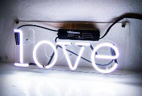 Love Glass Neon Light Sign Beer Bar