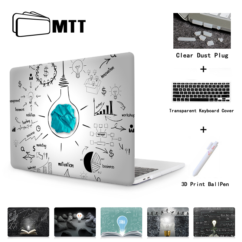 цена MTT Print Case For Macbook Air Pro 11 12 13 15 Retina Light Bulb Cover 13.3 15 inch Touch Bar 2017 A1707 A1708 Laptop Sleeve онлайн в 2017 году