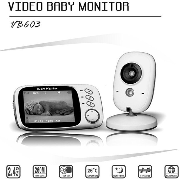 c5f6fb20cc6 VB603 Video Baby Monitor 2.4G Wireless with 3.2 Inches LCD 2 Way Audio Talk  Night Vision Surveillance Security Camera free shipping worldwide