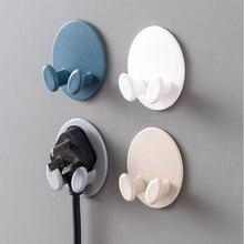 Plug Hook Cute Door Hanger Kitchen Accessories Adhesive Storage