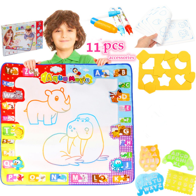 magnetic drawing board Magic water Mat large Doodle mat 78*78cm with 4 Magic Pen 15pcs Accessories water book Water Drawing Toys