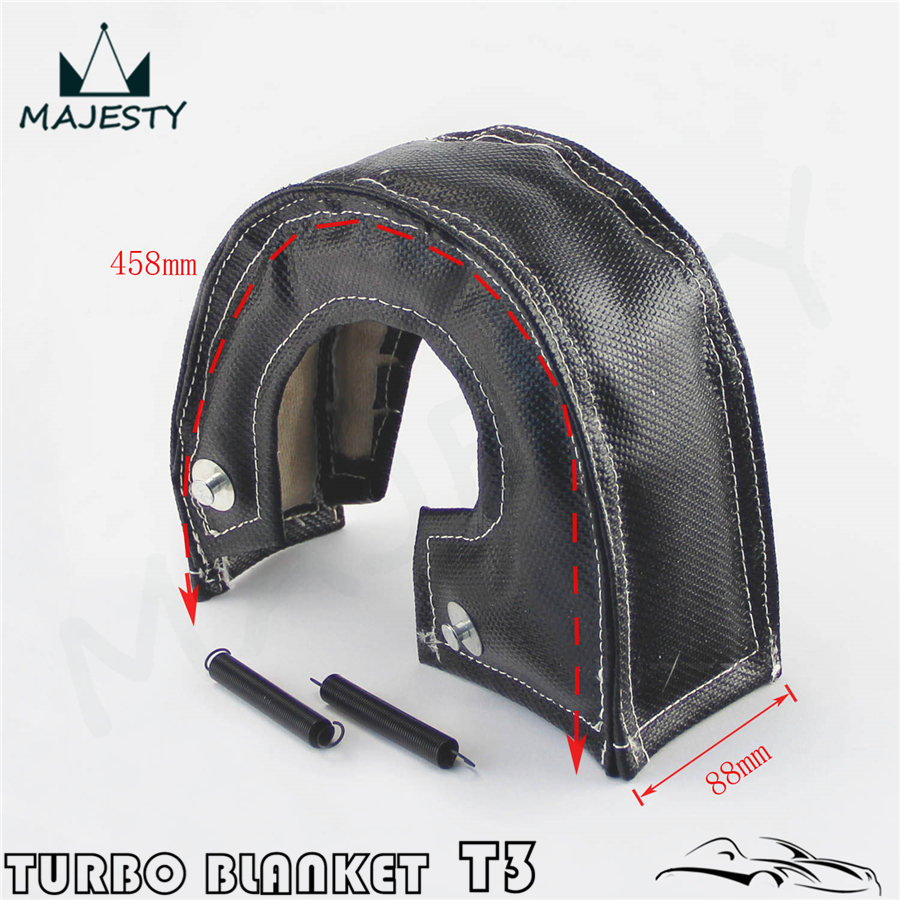 TURBO HEAT SHIELD BLANKET COVER T 3 T3+30FT MANIFOLD DOWNPIPE WRAP 2MM THICK BK