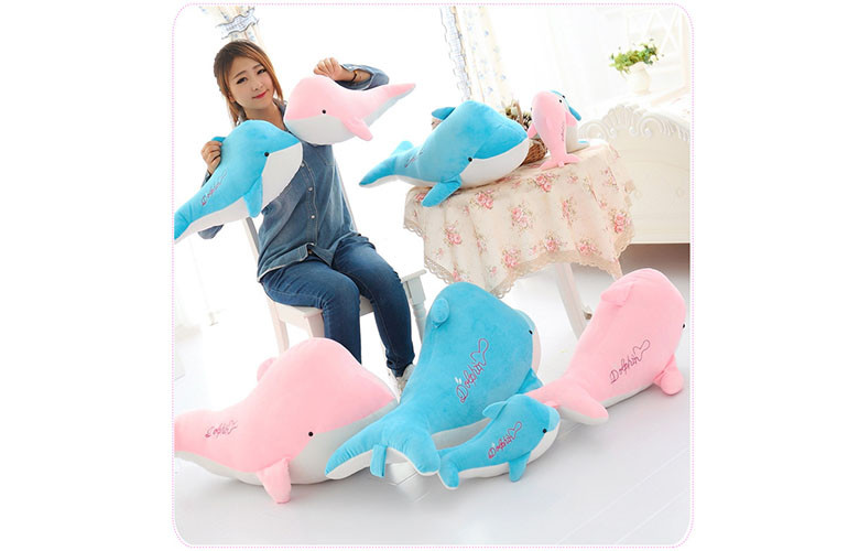 2015 New 28cm High-quality goods dolphins pillow doll plush toys dolphins doll present lovers toys for childrens Free shipping (3)