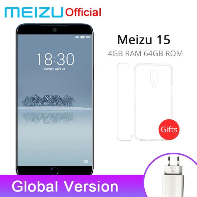 "Global Version Meizu 15 4GB 64GB Smartphone Snapdragon 660 Octa Core 5.46"" 1920x1080P Screen Fingerprint ID Fast charge"
