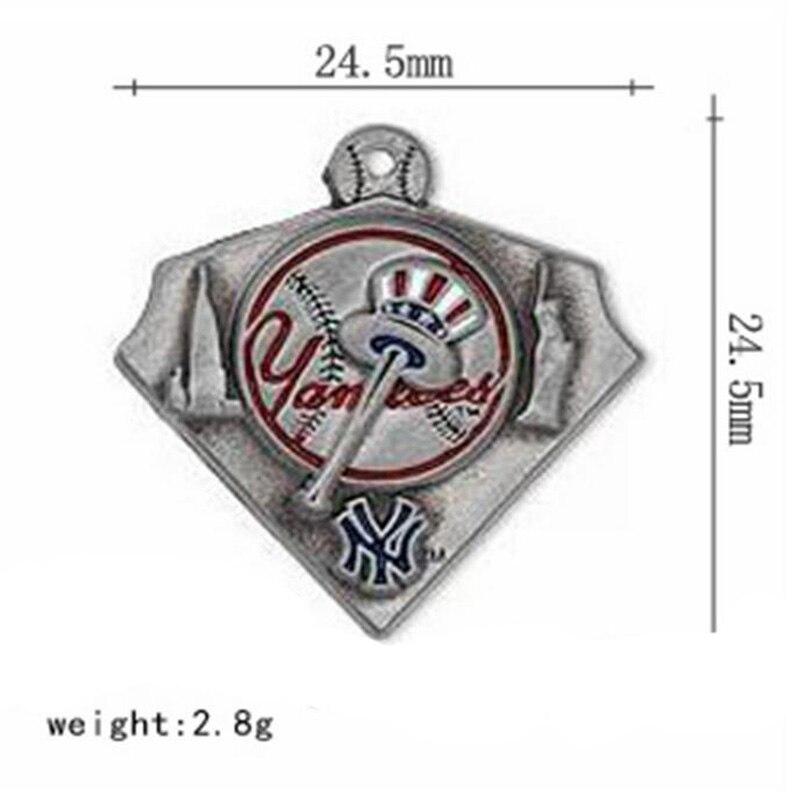 10PCS NY Baseball Yankee Enamel alloy Dangle Charms Jewelry DIY Necklace Dangle Pendants Jewelry Making