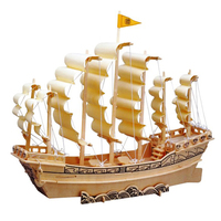 3D Wooden Puzzle Kid S Toys Galleon To Help Expand Educational Toy Intelligence Cultivate Children S