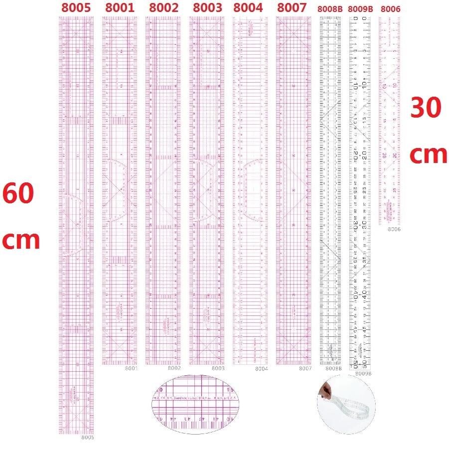 30/50/60cm Straight Patchwork Ruler PVC Ruler Gobernantes Para Patchwork  #8001 #8002 #8005 #8006