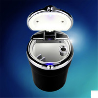 Car Styling Car Cigarette Ashtray With LED Lamp For Hyundai Ix35 IX45 IX25 I20 I30 Sonata