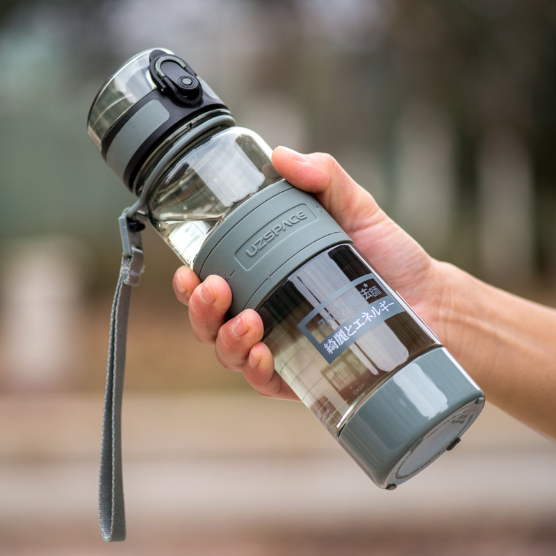 UZSPACE 500ml Sport Water Bottle Portable Leak Proof For Sports Travel Space Bike Hiking Plastic Water Bottle Drinkware BPA Free