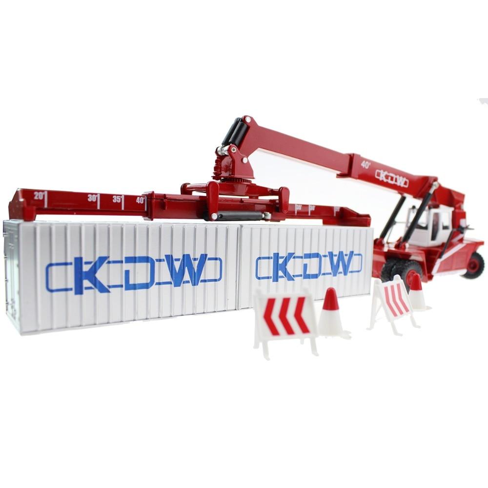 Paduan Diecast Truk Model Container Transport Logam Works 150
