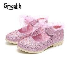a290e542 Zapatos de los niños zapatos de diamantes de imitación zapatos brillo  zapatos 2018 niñas dulce princesa fiesta zapatillas de beb.