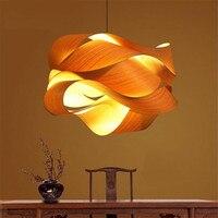 Nordic подвесные светильники для ресторана огни лампа для татами древесины лампы чай комнаты лампа Юго Восточная Азия бамбука оригинальный по
