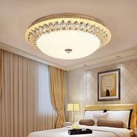 L Европейский потолочный светильник светодио дный простой современный круглый спальня лампа Теплый Романтический гостиная дома номер хрус