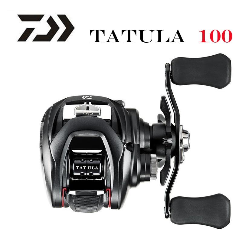 Новинка 2019, низкопрофильная Рыболовная катушка DAIWA TATULA 100 H 100HL 100HS 100HSL 100XS 100XSL MAX DRAG 5 кг, катушка для заброса 7BB + 1RB