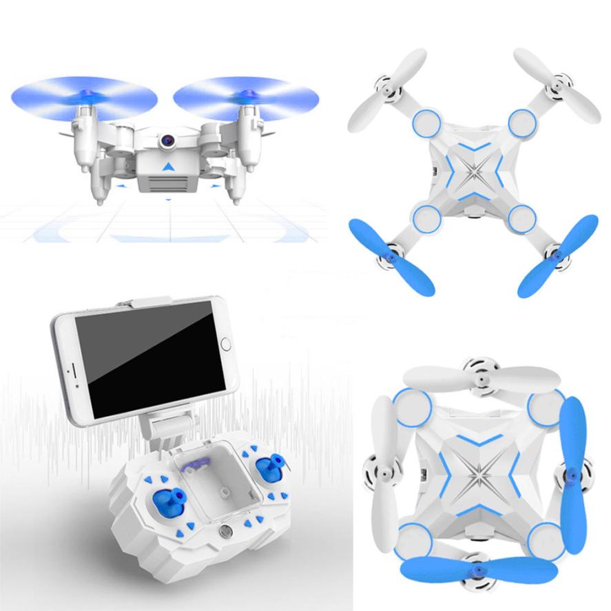 ФОТО M1 Mini Foldable 2.4G 4CH 6Axis RC A key return Quadcopter Drone HD FPV 3MP Headless Drone toys