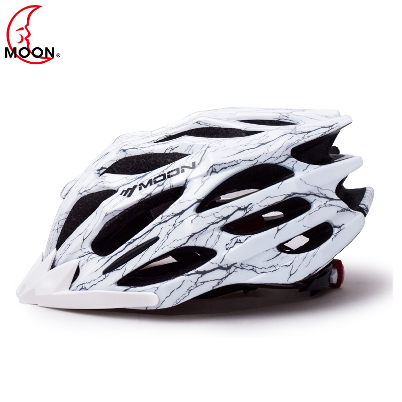 MOON Cheap Men Cycling Road Mountain Bike Helmet MTB Cycling Helmet Ultralight Breathable Bicycle Helmet Integrated 55-61cm image