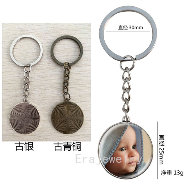 Personalized Photo Key Chains Custom Keychain Photo of Your Baby Child Mom Dad Grandparent Loved One Gift for Family  Gift 1