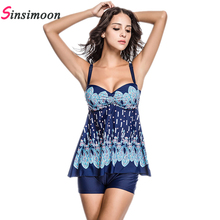 2017 Dress Swimsuit Skirt Bathing suit One piece bathing suit Floral Print Swimsuit Women Plus size Swimwear One-piece Monokini