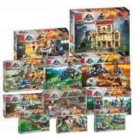 Jurassic Welt Tyrannosaurus Rex T. Rex Transport Triceratops Bausteine Ziegel Spielzeug Mit Legoinglys 73934 10928 Block