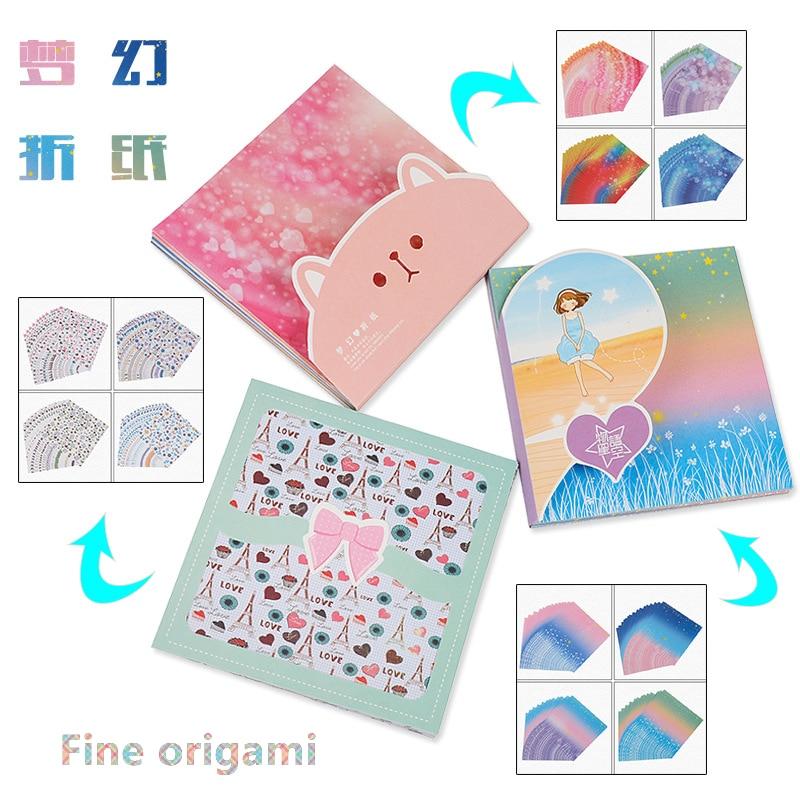 60pcs/box 15*15cm Fancy Origami Paper DIY Handmade Paper Craft Single Sided Art Background Kids DIY Craft Scrapbooking Paper