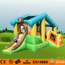 цена на Free Shipping 5.32m Dog House Mini Bouncer Slide Inflatable Playground for kids with Free CE blower