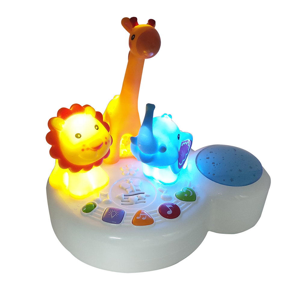 TOT Kids 510 Lighting Music Zoo Hypnotic Piano Creative Model Parent-child Education Toy Gift for Children