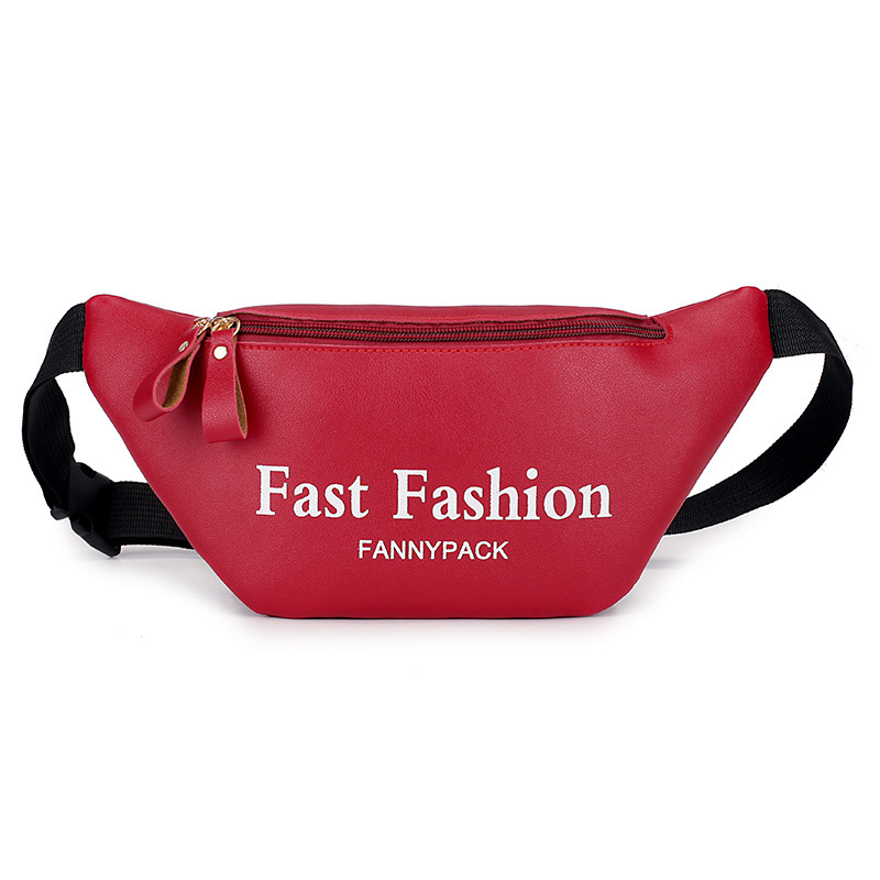 Belt Bag Waist Bag Fanny Pack Women Luxury Brand Leather Handbag Red Black Beige 2019 Summer High Quality Drop Shipping in Waist Packs from Luggage Bags