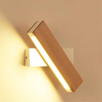 Minimalist Solid Wooden Wall Light Adiustable Led Wall Sconce Bedside Applique Murale Luminaira Nordic Wall Mounted Lighting