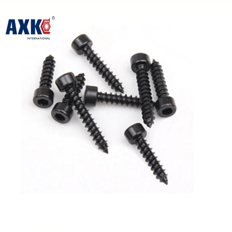 2017 Parafusos 100pcs/lot M2x10mm,m2*10mm Metric Free Shipping Thread Carbon Steel Hex Socket Head Cap Self Tapping Screw Bolts 20pcs m3 m12 screw thread metric plugs taps tap wrench die wrench set