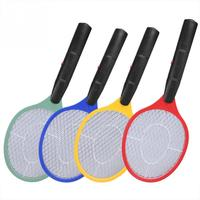 Thuis Elektrische Fly Mosquito Vliegenmepper Muggen Killer Bug Zapper Racket Insecten Killer Draadloze Batterij Power Muggenval Swatter