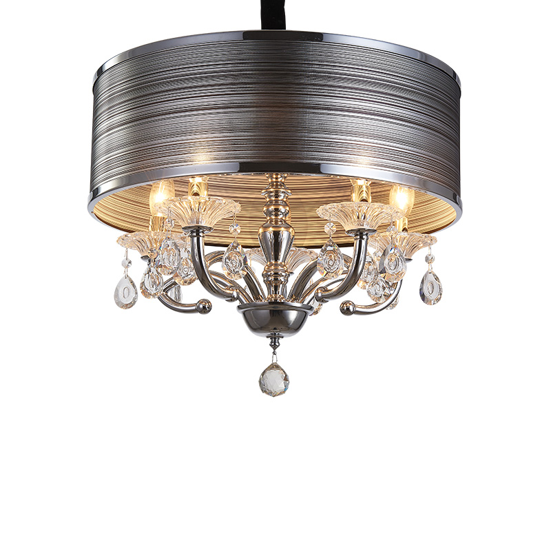 Crystal Simple bedroom lamp dining room study lamp LED lamps round cloakroom cloth creative Crystal Pendant Lights ZA crysta lamp pendant lights lounge dining room bedroom lamp lychee simple new european style warm crystal hanging lamp