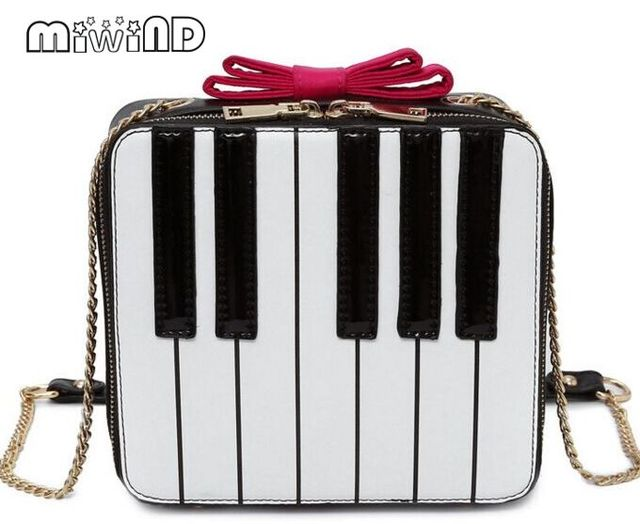 Miwind F Erfly Bow Chain Bag Fashion New Black White Striped Crossbody Shoulder Bags